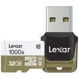 Carte mémoire Lexar microSDHC 1000x 32GB UHS-II avec lecteur USB 3
