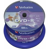 1x50 Verbatim DVD+R 4,7 GB 16x Speed