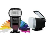 Flash Gloxy GX-F1000 TTL HSS + Diffuseur BounceLite