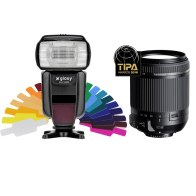 Flash Gloxy GX-F1000 TTL HSS + Objectif Tamron 18-200mm