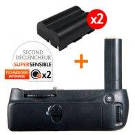 Kit Grip d'alimentation Gloxy GX-D80 + 2 Batteries EN-EL3E