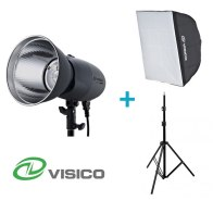Visico Kit avec un flash studio VL-400 Plus + Support + Softbox 50x70cm