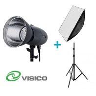 Visico Kit Flash Studio VL-400 Plus + Support + Softbox 80x120cm