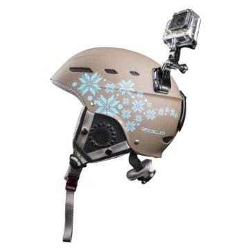 Mantona Set de fixation pour casque avec GoPro