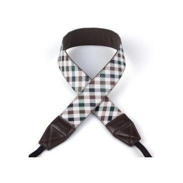 Sangle Scotland Checker Verte/Marron