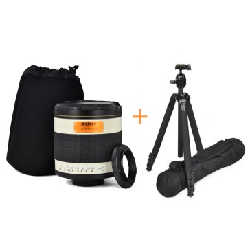 Kit Gloxy 500mm f/6.3 + Trépied GX-T6662A