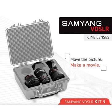 Kit Samyang pour Ciné 8mm, 16mm, 35mm Sony E pour Sony A6100