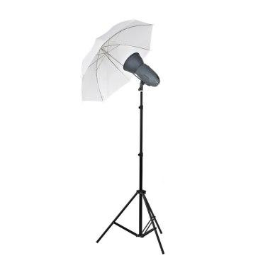 Visico Kit Flash Studio Visico VL-400 Plus + Support + Parapluie translucide pour Sony A6100