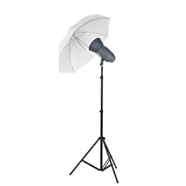 Visico Kit Flash Studio Visico VL-400 Plus + Support + Parapluie translucide pour Sony A6600