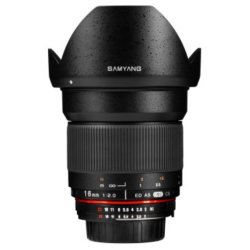 Samyang 16mm f/2.0 ED AS UMC CS Nikon AE Objectif