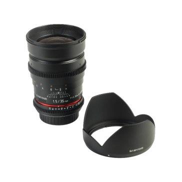 Objectif Samyang 35mm T1.5 V-DSLR ED AS IF UMC Sony E pour Sony A6600