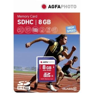 Carte mémoire AgfaPhoto SDHC 8GB pour Panasonic Lumix DMC-FS45