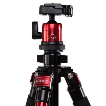 Kit trépied Triopo C-258 + rotule KJ-2 rouge pour Sony A6600