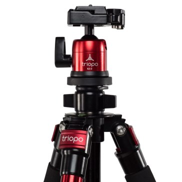 Kit trépied Triopo C-258 + rotule KJ-2 rouge pour Sony DSC-V3
