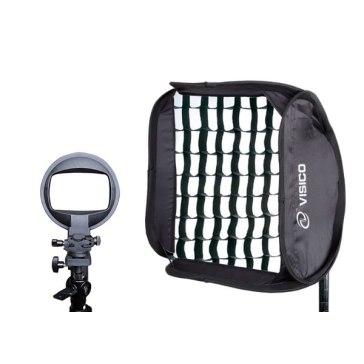 Softbox pliable pour strobist Visico EB-063 40 x 40cm