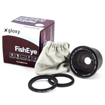 Lentille Gloxy Fish-eye 0.42x avec Macro