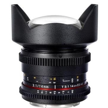 Samyang 14mm T3.1 V-DSLR ED AS IF UMC Sony E Objectif pour Sony A6600