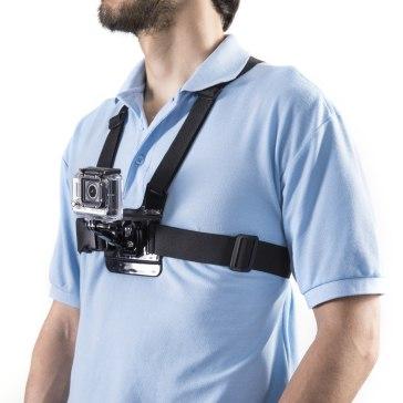 Mantona Harnais pour la poitrine pour appareil GoPro