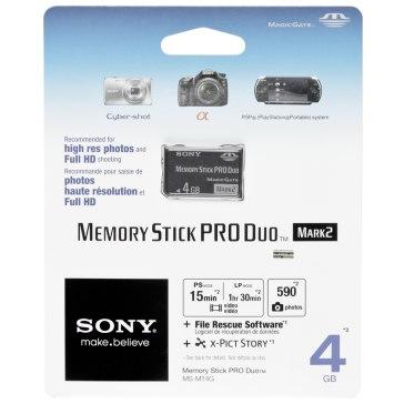 Carte Mémoire Sony Memory Stick 4GB pour Sony A6100