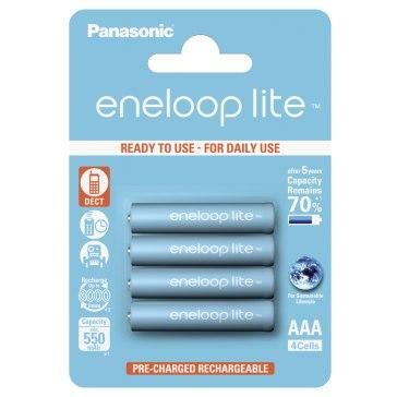 Piles 1x4 Panasonic Eneloop Lite Micro AAA 550 mAh