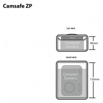 Etui Pacsafe Camsafe ZP pour les appareils photo compacts pour Fujifilm FinePix F200EXR