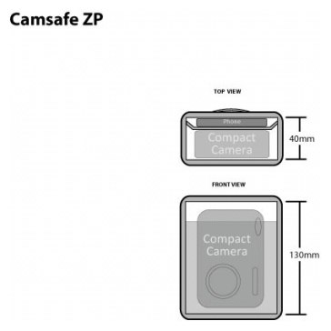 Etui Pacsafe Camsafe ZP pour les appareils photo compacts pour Pentax Optio T20