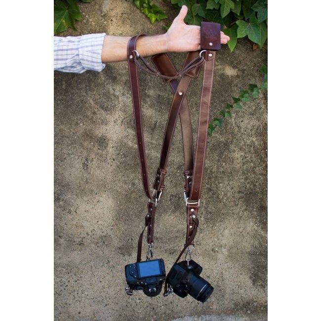 Bymerro harnais complet pour deux appareils photo marron fonc - Appareil a raclette pour deux ...