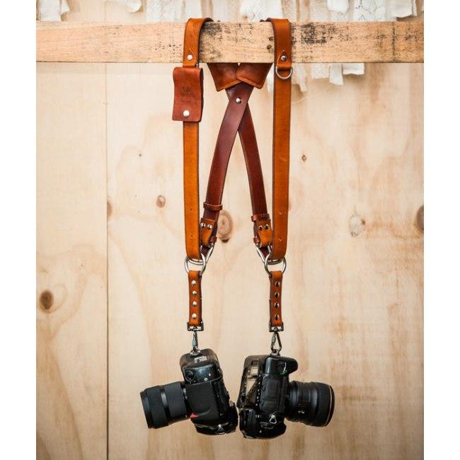 Bymerro harnais complet pour deux appareils photo marron clair - Appareil a raclette pour deux ...